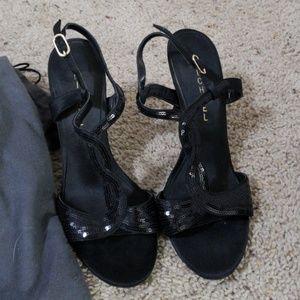 Michael Shannon sparkle heels